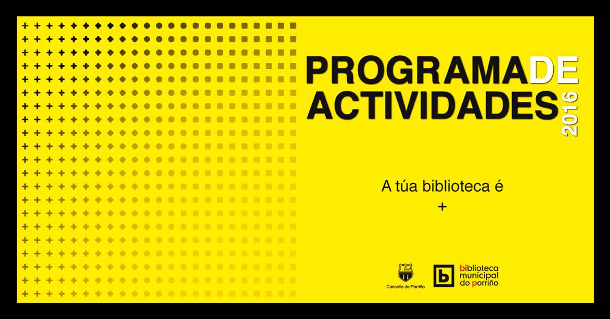Programa de Actividades da Biblioteca Municipal do Porriño
