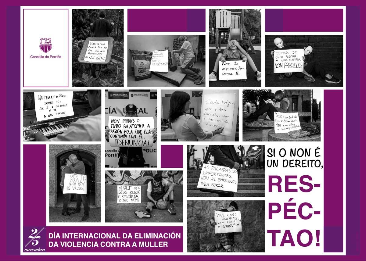 Cartel Día Internacional sa Eliminación da Violencia Contra a Muller