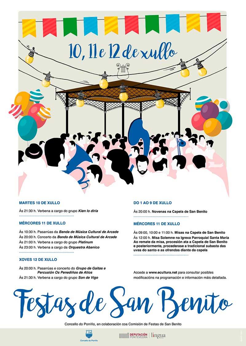 Cartel Festas de San Benito 2018. Concello do Porriño