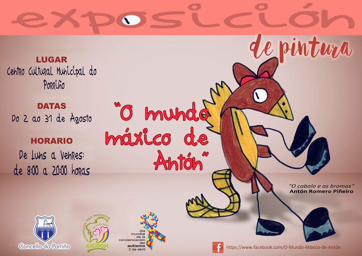 """Exposición de pintura: """"O mundo máxico de Antón"""""""