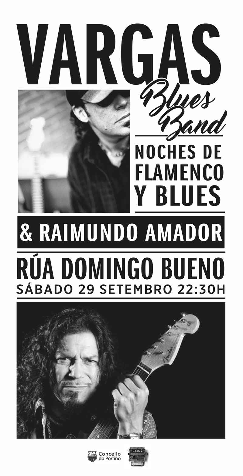 Cartel concerto Vargas Blues Band e Raimundo Amador