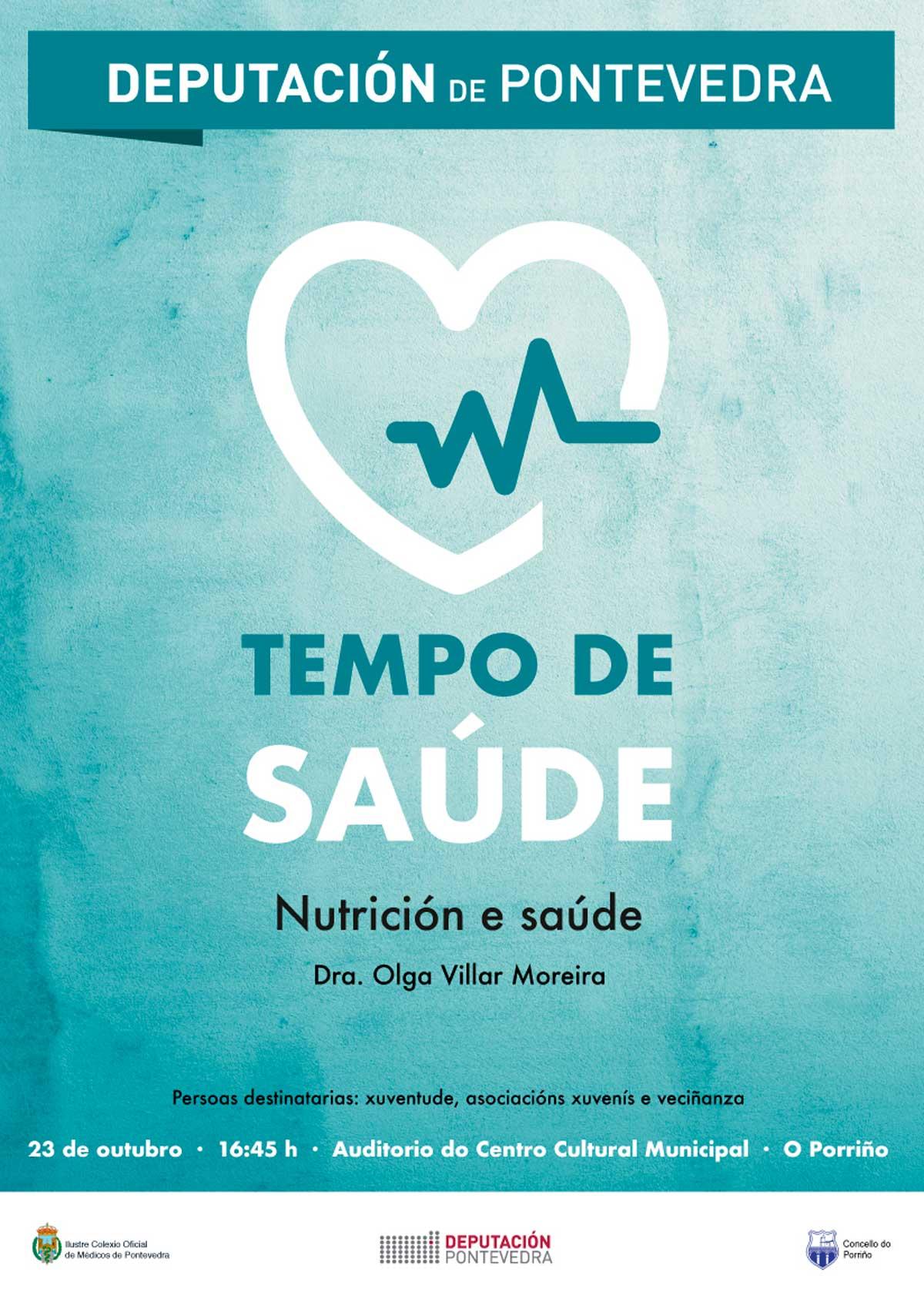 """Charla: """"Nutrición e saúde: trastornos alimentarios"""""""