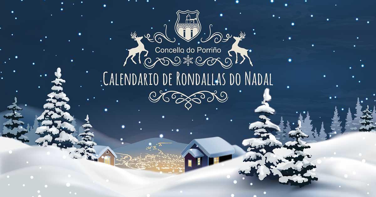 Calendario de Rondallas do Nadal 2018. Concello do Porriño