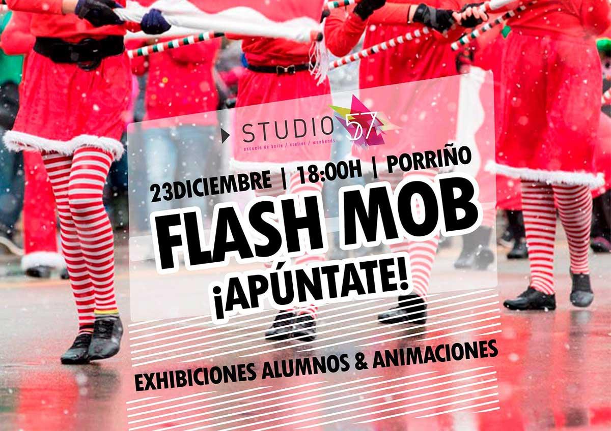 Flashmob Navideño. Exhibición de baile Studio 57