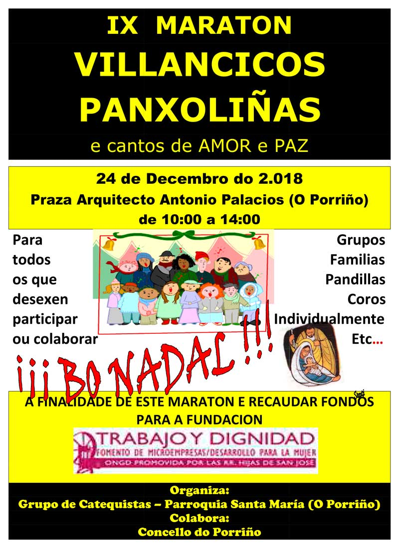 IX MARATON DE VILLANCICOS E PANXOLIN'AS 2018