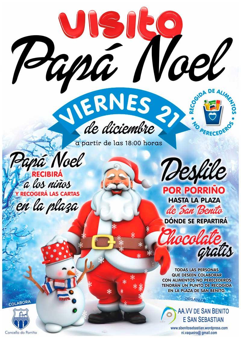 Papa Noel a San Benito e San Sebastián