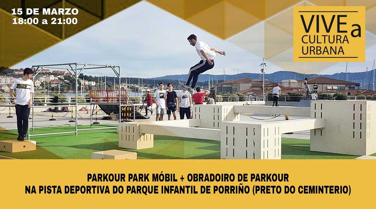 Programa Vive a Cultura Urbana. Mes dos deportes urbanos: Parkour Park Móbil