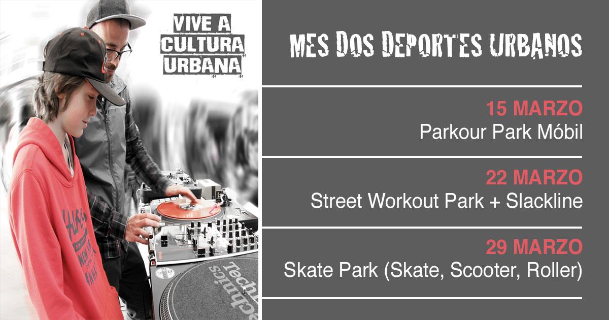 Vive a Cultura Urbana. Mes dos deportes urbanos