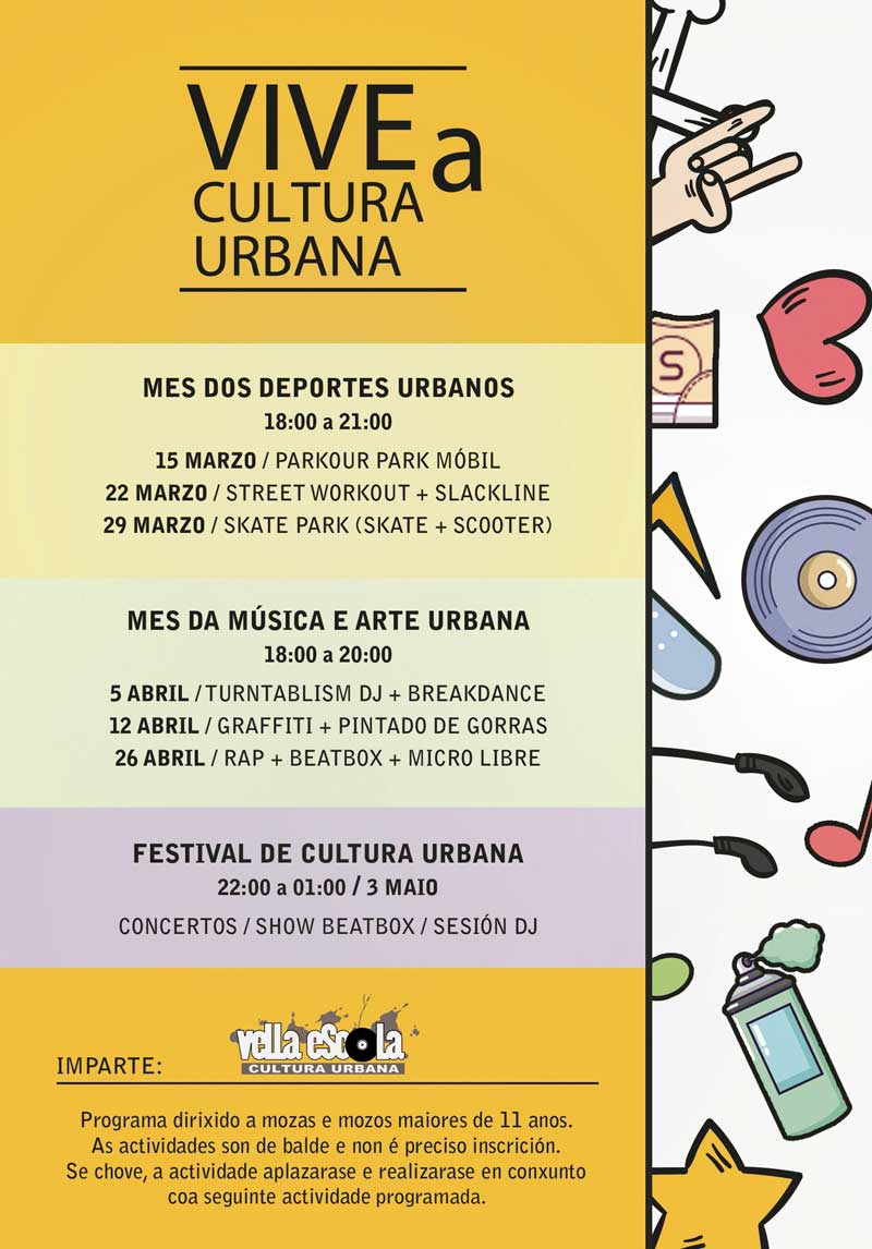 Cartel Vive A Cultura Urbana Programa