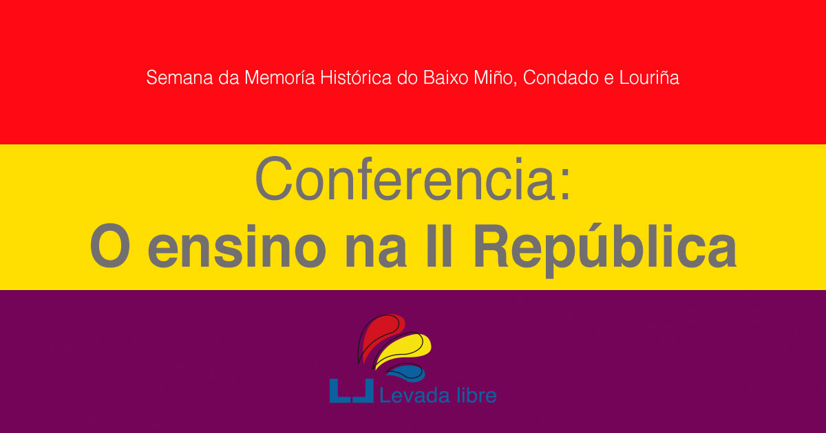 Conferencia: O ensino na II República