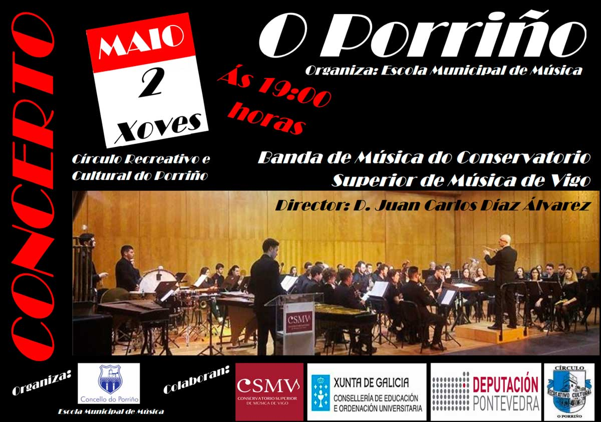 Concerto musical: Banda de Música do Conservatorio Superior de Música de Vigo