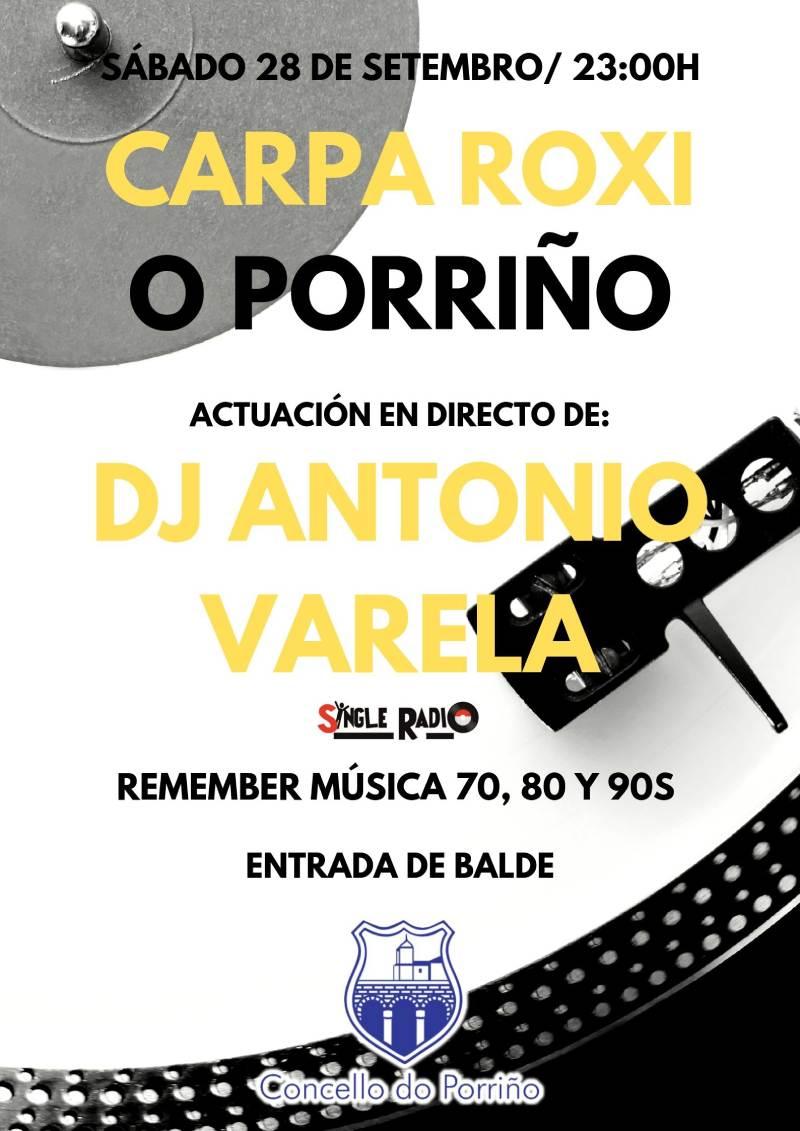 Cartel DJ Antonio Varela