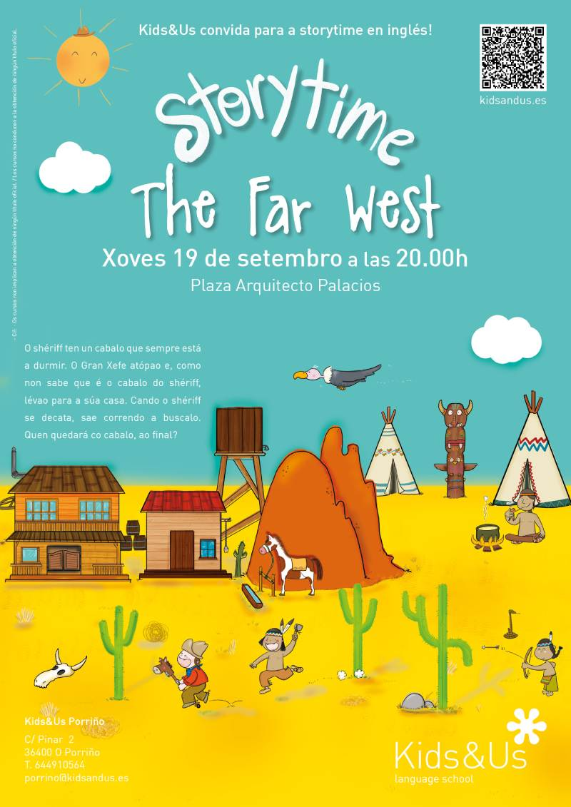 "Contacontos infantil en inglés: ""The far west"""