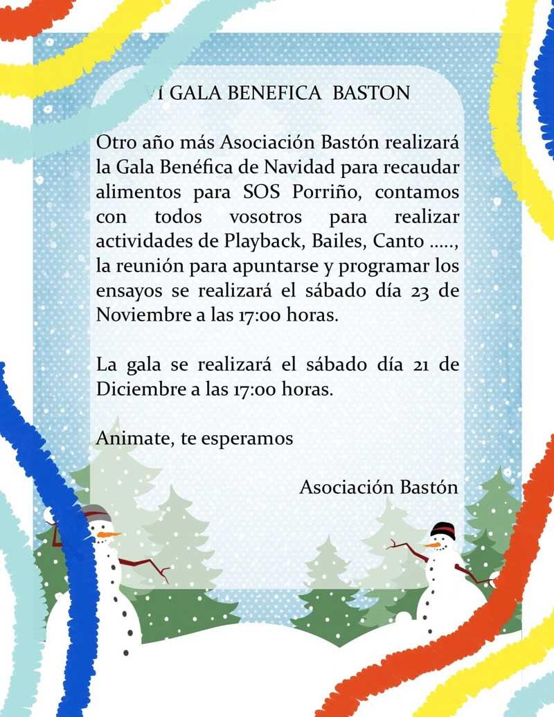 Gala Benéfica de Navidad da Asociación Bastón 2019