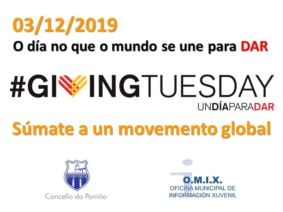 """""""Giving Tuesday"""" - Martes de dar, recollida de alimentos"""