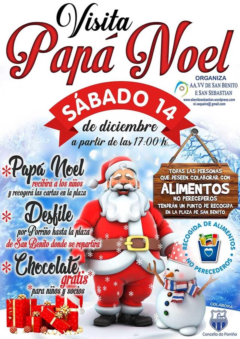Visita de Papá Noel e chocolatada