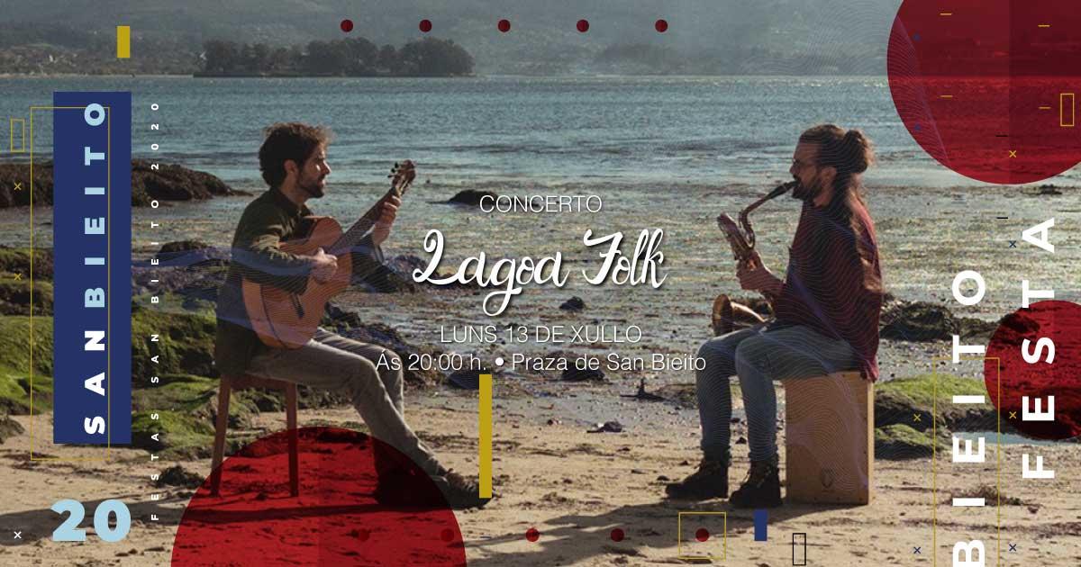 Actuación do dúo Lagoa Folk