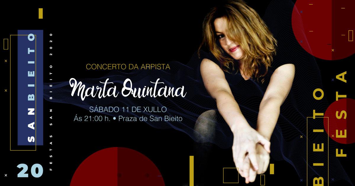 Actuación da arpista Marta Quintana