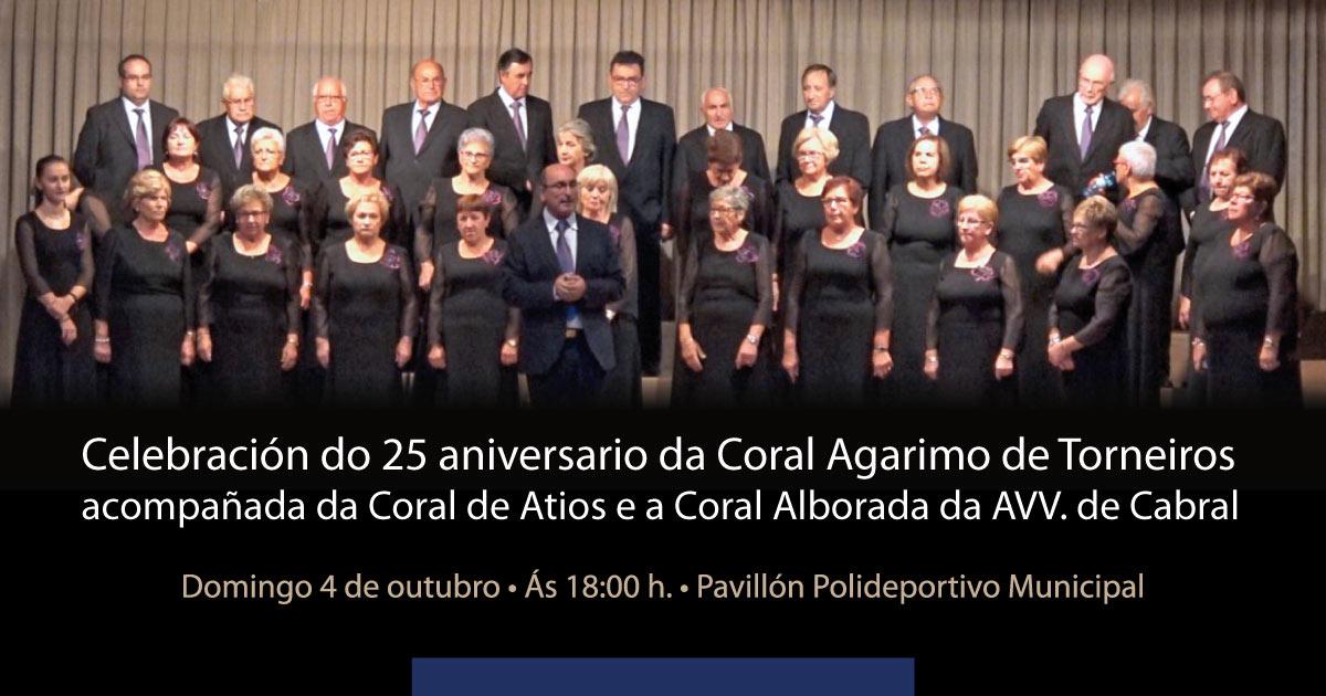 Celebración do 25 aniversario da Coral Agarimo de Torneiros