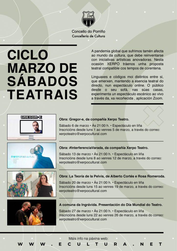 """Ciclo """"Marzo de sábados teatrais"""""""