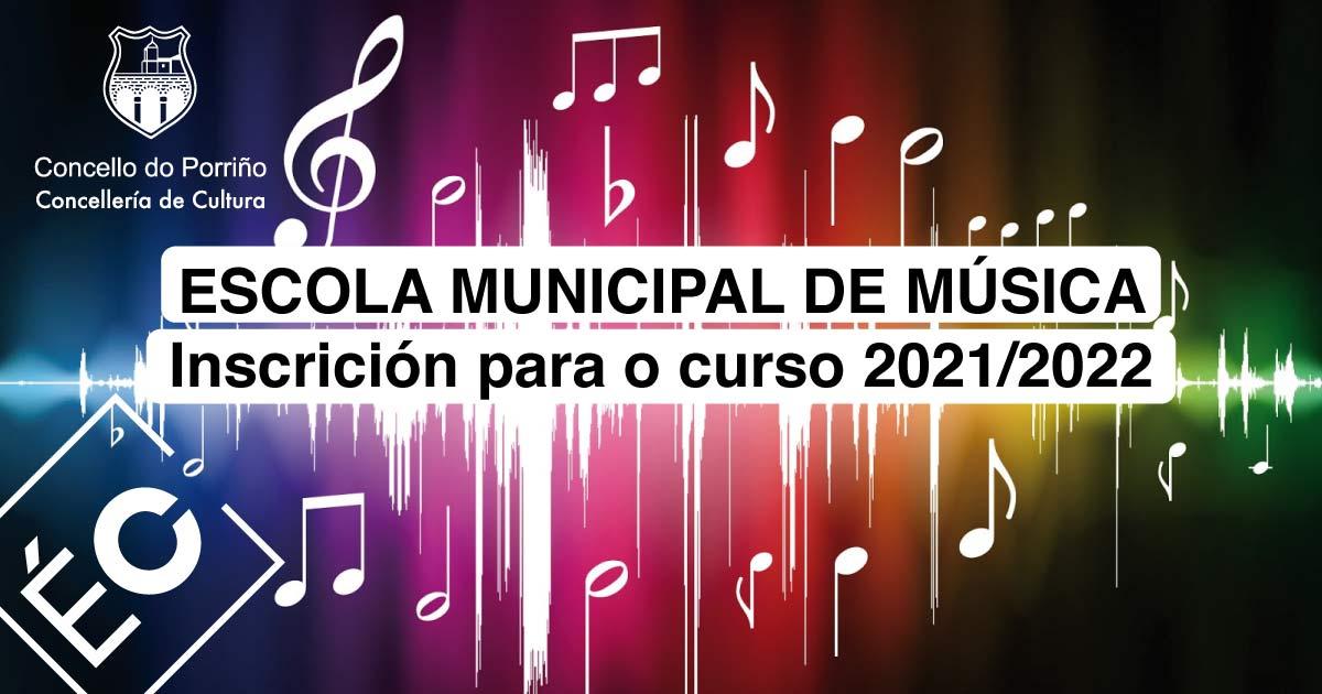 A Escola Municipal de Música do Porriño abre o prazo para formalizar a matrícula do curso 2021/2022